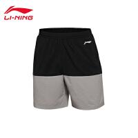 李宁运动短裤男士跑步系列速干男装凉爽夏季梭织运动裤AKSL033