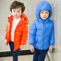 儿童羽绒男女童装雷锋帽棉衣外套加厚短款宝宝棉袄冬