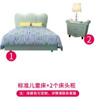 美式�和�床男孩女孩公主�稳瞬妓�床�和�房家具�M合套�b1.2米�制