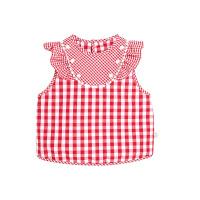 儿童罩衣宝宝女孩公主时尚吃饭围兜衣防水无袖背心式围裙薄款