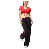 新款广场舞服装运动休闲  健身操服女式运动套装健美操