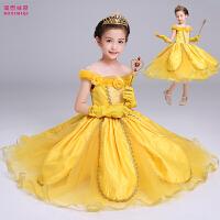 女孩礼服舞蹈跳舞纱裙冬季儿童演出服女童公主裙表演服装