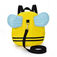 宝宝书包1-3岁幼儿园防走失带牵引绳儿童双肩婴儿背包迷你防丢失 小蜜蜂 (适合1-3岁)