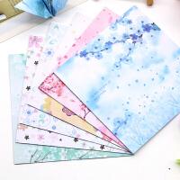 折纸正方形双面印花碎花唯美樱花儿童手工彩色千纸鹤卡纸diy材料