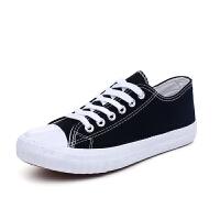 帆布鞋女2019百搭小白鞋韩版学生布鞋街拍板鞋原宿系带女鞋