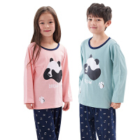 儿童家居服套装男童女童中大童春夏薄款小宝宝长袖睡衣