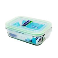 GLASS LOCK 三光云彩 韩国进口钢化玻璃扣 可微波保鲜盒饭盒400ML-RP519