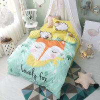 三件套大学生宿舍床上用品上下铺可爱儿童被套床单3-yn定制