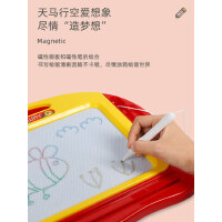谷雨儿童小画板磁性磁力写字板宝宝婴儿玩具1岁幼儿彩色涂鸦可擦
