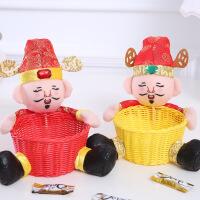 物有物语 糖果盒 招财糖果篮春节过年商场抱财送福新年装饰摆件财神爷水果篮