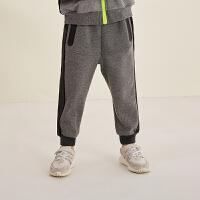 【1件3.5折价:129元】马拉丁童装男童针织长裤秋装新款侧边时尚大口袋修身收腿长裤