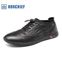 红蜻蜓旗下品牌 HONCHIEF 男鞋休闲鞋秋冬鞋子男板鞋KTA7231