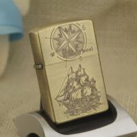 煤油打火机 航运罗盘 铜壳创意防风 煤油打火机 航运罗盘