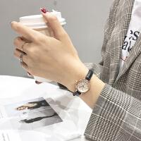 手表女中学生韩版简约小巧 手细表带气质百搭小表盘学院风 粉带