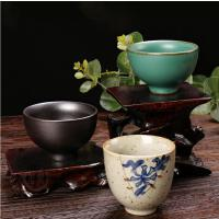 陶茶杯品茗杯�凸殴Ψ虿璞����杯子主人杯家用泡茶杯