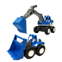 儿童玩具车套装 儿童挖掘机玩具车大号耐摔男孩沙滩惯性工程车挖土机铲车模型套装