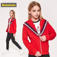 巴拉巴拉童装儿童套装女童2019新款春季小孩衣服中大童学院风百搭