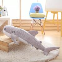 蓝鲸鲸鱼公仔抱枕靠垫海豚鲨鱼毛绒玩具虎鲨大号布娃娃女生礼物