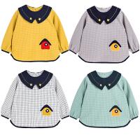 婴儿童吃饭罩衣宝宝围兜衣男童小孩防脏护衣防水围裙春秋薄款