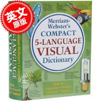 现货 Merriam-Webster's Compact 5-Language Visual 韦氏字典