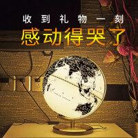 喜金苹 创意台湾黑白地球仪儿童台灯中号25cm高清初中学生用 欧式摆件装家居饰品家居摆设大号送男女朋友礼物