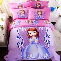 儿童被套四件套女孩全棉 床上公主风床单式床上用品卡通定制 2.0m(6.6英尺)床 床单款