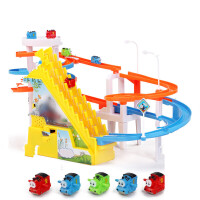 小猪轨道车玩具电动拼装儿童3-6周岁男女孩粉红佩5礼物