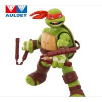 奥迪双钻忍者神龟玩具 动作发声公仔可动版玩具 升级版莱昂纳多