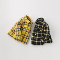 【夹棉】davebella戴维贝拉童装冬季新款男童宝宝格子衬衫DB12693