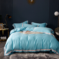 60支纯色天丝四件套夏季冰丝滑裸睡双面天丝欧式床单被套床上用品