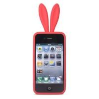 iphone 4兔女郎硅胶手机套粉色