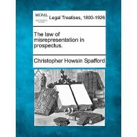 【预订】The Law of Misrepresentation in Prospectus.