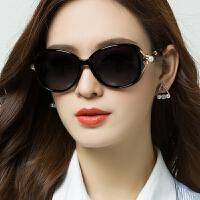 偏光太阳镜圆脸墨镜女可配近视眼镜方脸