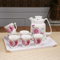 欧式创意耐高温礼品家用陶瓷冷水壶杯具水杯防爆耐热凉水壶EB