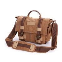 背包客单反相机包休闲帆布单肩摄影包索尼A7复古原创A7S II