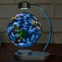 发光自转磁悬浮地球仪台灯办公室书房教学摆件学生创意礼品礼物