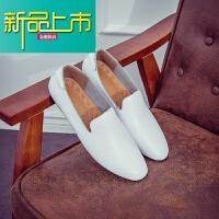 新品上市春季豆豆鞋男士真皮休闲鞋夏季韩版潮流皮鞋透气懒人一脚蹬男鞋子