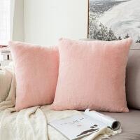 轻奢抱枕靠垫毛绒沙发靠垫靠枕办公室床头靠垫抱枕套不含芯定制