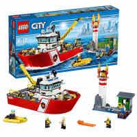新品乐高城市系列60109消防船LEGO CITY 玩具益智拼插积木男孩