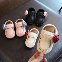 女宝宝公主鞋子1-3岁婴儿单鞋小童皮鞋透气软底幼儿学步鞋春秋款2