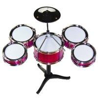 儿童架子鼓初学者练习鼓仿真爵士鼓乐器音乐玩具镭射五鼓1-2-3岁