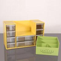 整理架简约抽屉式欧式 办公用品文具收纳盒塑料透明抽屉式整理盒储物盒