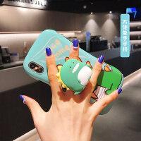 iphone11手机壳小蛮腰11pro max支架卡通小恐龙苹果xr可爱xsmax创意7plus有趣X情侣8plus网
