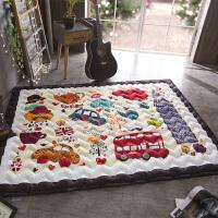 春秋棉质加厚家用宝宝爬行垫可机洗儿童布质地垫游戏垫防滑爬爬垫