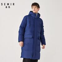 森马冬季新款保暖加厚长款羽绒服男韩版时尚连帽学生宽松外套