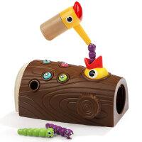 啄木鸟抓虫游戏捉毛毛虫磁性钓鱼宝宝儿童玩具1-3一2周岁男女孩小c 啄木鸟捉虫游戏