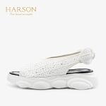 【秋冬新款 限时1折起】哈森 2019夏季新款洋气潮鞋女鞋HM97192