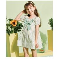 【抢购价:52.5元】巴布豆童装年新款儿童裙子森系甜美女童连衣裙