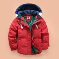 儿童羽绒服男童冬季加厚羽绒服短款中大童连帽宝宝外套