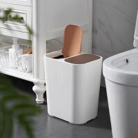 分类垃圾桶 家用15L双盖创意厨房干湿分离客厅北欧卫生间大容量弹盖垃圾收纳桶
